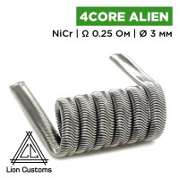 Four-Core Alien Clapton Coil (Lion Customs), 0.3 мм NiCr 0.25 Ом