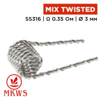 Mix Twisted Coil (MKWS), SS316 0.35 Ом